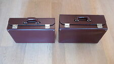 2 hard brown leather briefcases ASTOLFI