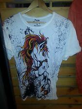 Lady T SHIRT Shirt Pure 100 Cotton horse Freedom Animal Wild Love Nature Earth M
