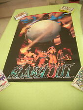 SLASH OUT SLASHOUT SPIKE OUT 2 SEGA ARCADE B1 SIZE OFFICIAL POSTER!