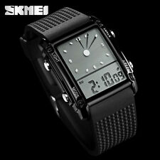 SKMEI Quartz Dual-display Wristwatch LED Digital Analog 50M Waterproof Watch