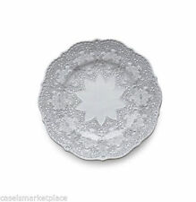 Arte Italica Merletto White Lace Set of 4 Salad and Dessert Plates Made in Italy