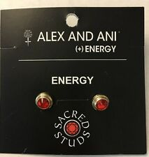 Alex & Ani Energy Sacred Studs Red Earrings Pierced Ears Crystal Brand New NWT