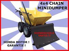 Minidumper Mini Dumper Radlader kipper 4x4 Garden Loader. SCHNEESCHILD GRATIS!