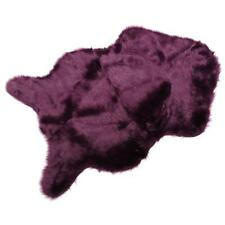 Hairy Carpet Wool Sheepskin Chair Cover Mat Plain Skin Fur Fluffy Cozy Area Rugs