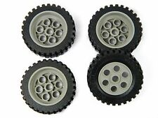 LEGO TECHNIC WHEELS Model Team set of 4 42x12mm Wheel Tire large tyre gray *