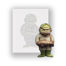 Silicone Mould - Fishing Man - Flat Backed Mini Sculpture - Food Safe