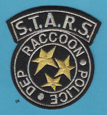 RESIDENT EVIL RACCOON POLICE STARS SHOULDER PATCH ( Black / Silver /Gold)