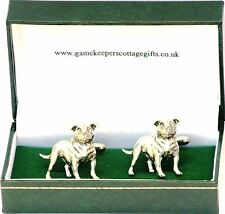 Staffordshire Bull Terrier Cufflinks for Staffy dog Fan