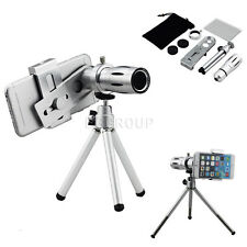 12X Zoom Camera Telephoto Telescope Lens+Mount Tripod For LG G Stylo LS770/G5 G3