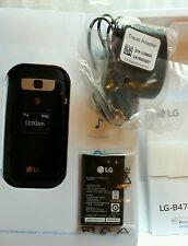 New LG B470 UNLOCKED Black  Cellular GSM 3G Flip Phone for at&t tmobile cricket