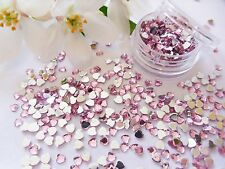 3D Nail Art 'Pale Pink' 3mm Rhinestone Hearts Pot Flat Back app 400pcs Gems Tip