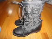 COACH SAGE LACE- UP  BOOTS FOR WOMAN: SIZE 7B: BLACK: 100% POLYESTER