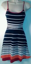Jr's Women's Small Striped Sundress Adjustable Straps ~ Casual ~ Career ~College