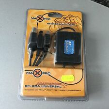 VINTAGE# MAXPRO RF RCA UNIVERSAL ADAPTOR AUTO SWITCH FOR PS1 PS2 XBOX GAMECUBE#