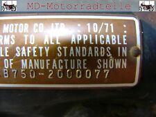 Honda CB 750 Four K0 K1 K2 Nieten Set für Typenschild  F - 41