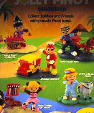 2016 SET OF 5 JOLLY PINOY Collectibles JOLLIBEE HETTY YUM POPO TWIRLIE TOYS MIB