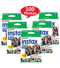 100 Prints Fuji Instant Wide White Film for Fujifilm Instax 200 210 300 Camera