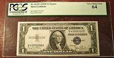 PCGS 1935 D $1 ONE DOLLAR SILVER CERT(NARROW) 64 VERY CHOICE NEW  *** SHIPS FREE