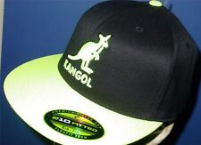 Licensed Kangol Baseball Player Hat Beret Flexfit S/M Neon Y    TOO FRIKIN COOL!