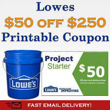 Get Two (2x) Lowes $50 Off Printable-Coupons exp.  4/04/17