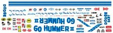 Mary Ann Foss GO HUMMER II 1/64th HO Scale Slot Car Decals