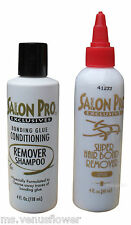 Salon Pro Exclusive Bonding Glue Remover and  Conditioning Remover Shampoo 4 oz
