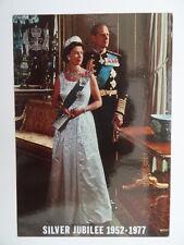 Queen Elizabeth II Silver Jubilee 1952-1977. Vintage Postcard. 116.UK Royalty.