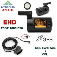 EYOYO mini 0806 Ambarella A7LA50 1296P Video Car Dash Camera/GPS+CPL+Hard Wire