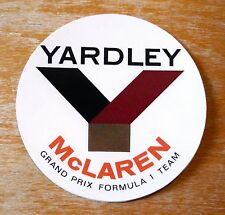Yardley McLaren Grand Prix Formula 1 Team Racing Motorsport Sticker Decal