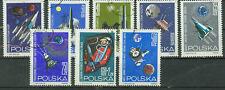 Polen Briefmarken 1964 Weltraumforschung Mi.Nr.1553-1560