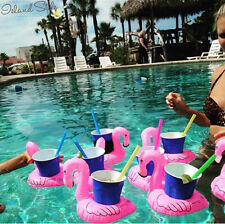 Flamingo Inflatable Floating Cup Holder Pool Toys Party