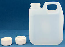 10 x 1 Litre Natural Plastic Jerry Cans with 38mm T/E Screw Caps