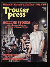TROUSER PRESS 29/1978 STONES HACKETT DAVE DAVIES DICTATORS X RAY SPEX COSTELLO