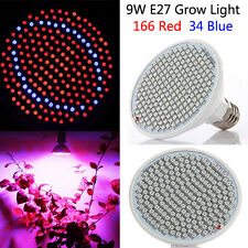 BG309 LED Grow Bulb Light Greenhouse Plant Seedling Lamp 9W 166 Red 34 Blue