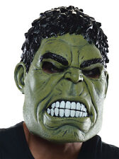 HALLOWEEN ADULT THE HULK MARVEL LATEX  MASK  PROP