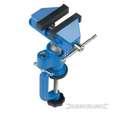 Silverline VC17 Multi Angle Vice 70mm table clamp turns swivel angles