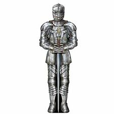 KNIGHT Medieval SUIT OF ARMOR Die Cut Cut-Out DECORATION 3' Party Prop CAMELOT