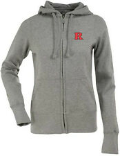 NWT Rutgers Womens Zip Front Hoody Embroidered Sweatshirt Gray - Large