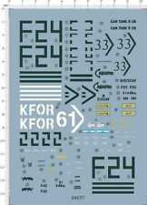 1/35 kfor 61 can tank r us f43 f24 tank Model Kit Water Slide Decal