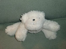 POTTERY BARN STUFFED PLUSH FLUFFY FURRY BICHON FRISE DOG BEANS WHITE CREAM IVORY