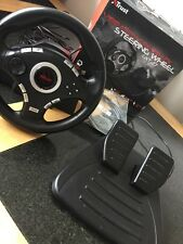 Trust Vibration Feedback Steering Wheel ~ GXT 27 ~ PS3 / PS2 / PC