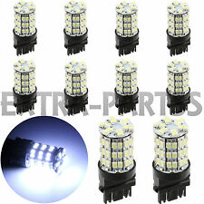 10 X Pure White 3157 60smd DRL 3157A 4114 4157NA Daytime Running LED Light Bulbs