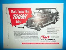 1948 WC Ad Mack Fire Apparatus Coos Bay Oregon Type 85 750 Gal Pump Fire Truck