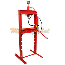 20 Ton Air Hydraulic Floor Shop Press H Type Frame