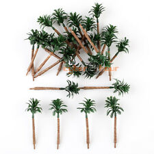 25 Model Train Coco Palm Trees Forest Layout HO TT 1:100-1:200