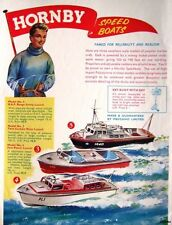 1962 HORNBY Speed Boats ADVERT Safety, River & Patrol Launch - Original Print AD