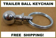 "Valley Industries Chrome Hitch Trailer ¾"" Ball KEYCHAIN Towing"