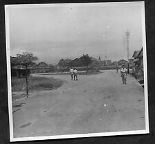 Dated 1946 Original Photo of People, Oerimissing Street, Ambon