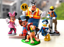 MICKEY MOUSE CLUBHOUSE 6 FIGURINE FIGURE CAKE TOPPER PLAY SET DECOR KIDS TOY