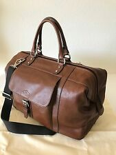 Fossil Men's Cognac Brown Leather Estate Duffle Carryon Overnite Bag MBG9238222